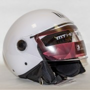 MT Helmets OF501 Street Solid A6 Gloss White Мотошлем открытый