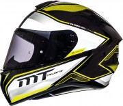 Шлем-интеграл MT Targo INTERACT A4 GLOSS PEARL FLUOR YELLOW