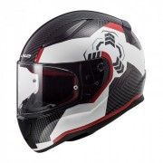 Шлем-интеграл LS2 FF353 Rapid Ghost White Black Red