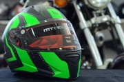 Шлем-интеграл MT Stinger Warhead Matt Black Kawasaki Green