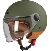 MT Helmets OF501 Street Solid A6 Matt Green Мотошлем открытый