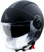 MT Helmets OF502 Viale Solid A6 A1 Matt Black Мотошлем открытый