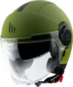 MT Helmets OF502 Viale Solid A6 A1 Matt Green Мотошлем открытый