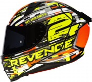 Шлем интеграл MT Helmets Revenge 2 BAYE A4 GLOSS FLUOR ORANGE