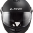 LS2 FF325 Strobe Electric Snow (Matt black) шлем-модуляр  -