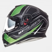 Шлем-интеграл MT Thunder 3 SV Trace Matt Black Fluo Green