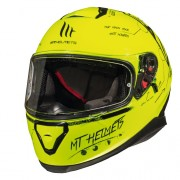 Шлем-интеграл MT Thunder 3 SV BOARD A0 GLOSS FLUOR YELLOW