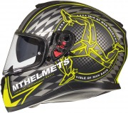 Шлем-интеграл MT Thunder 3 SV ISLE OF MAN A3 MATT BLACK/FLUOR YELLOW