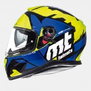 Шлем-интеграл MT Thunder 3 SV TORN GLOSS FLUOR YELLOW/BLUE