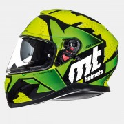 Шлем-интеграл MT Thunder 3 SV TORN GLOSS FLUOR YELLOW/FLUOR GREEN