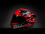 Мотошлем интеграл карбон KRE SNAKE CARBON HAWKERS A0 GLOSS FLUOR RED