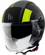 MT Helmets OF502 Viale PHANTOM C3 MATT FLUOR YELLOW Мотошлем открытый