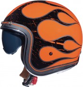 Мотошлем открытый MT Helmets LE MANS 2 SV FLAMING A0 GLOSS FLUOR ORANGE