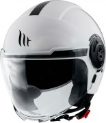 MT Helmets OF502 Viale Solid A0 Gloss Pearl White Мотошлем открытый